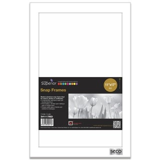 """25mm Mitred Snap Frame in White 11""""x17"""""""