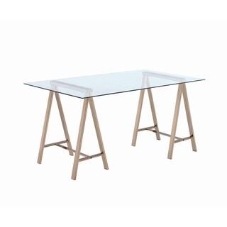 Contemporary Glass Top Writing Desk