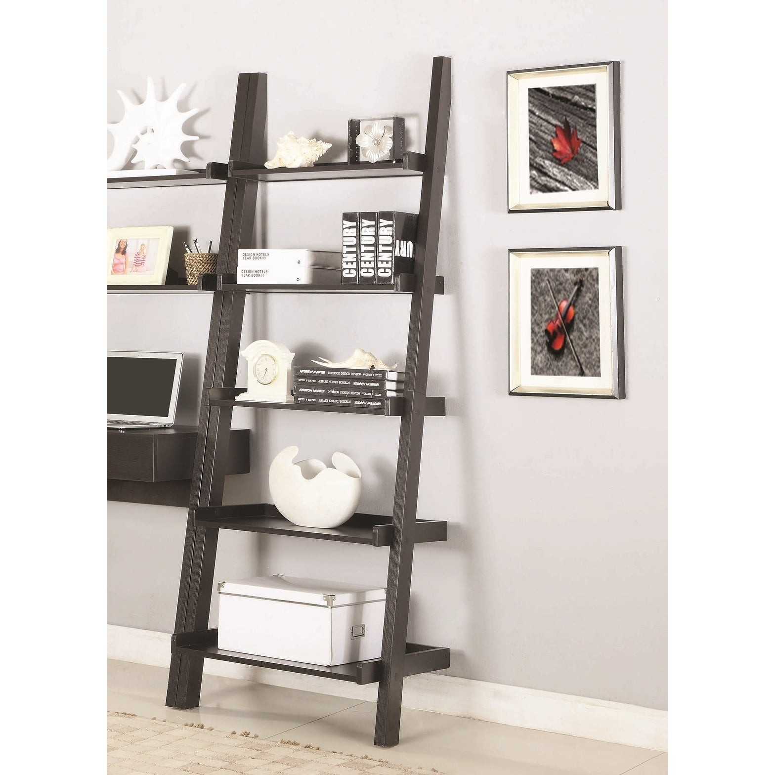 Transition Wall Leaning Ladder Desk