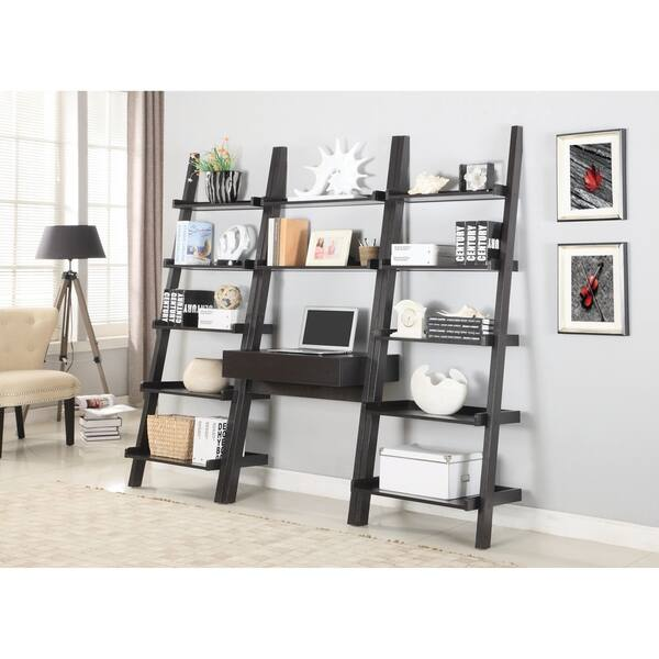 Transitional Cuccino Wall Leaning Ladder Desk