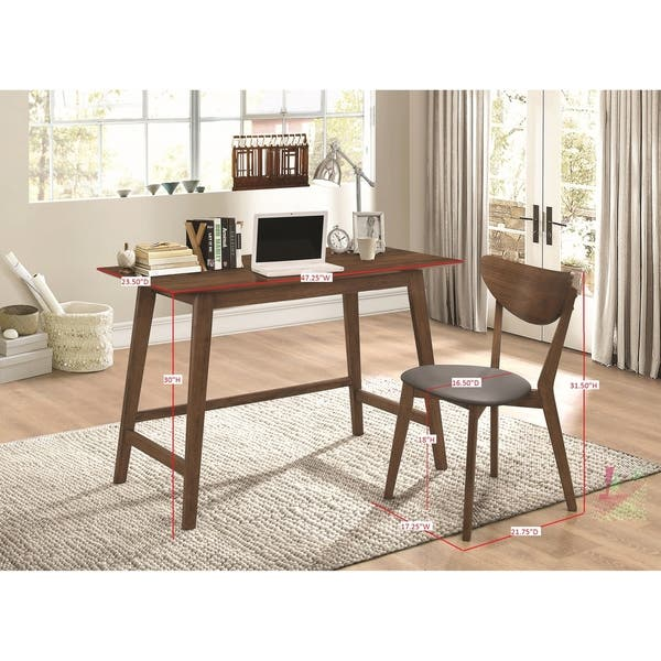 Phenomenal Shop Mid Century Modern Walnut Desk And Chair Set Free Ibusinesslaw Wood Chair Design Ideas Ibusinesslaworg