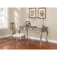 Traditional Gold Brushed Desk and Chair Set
