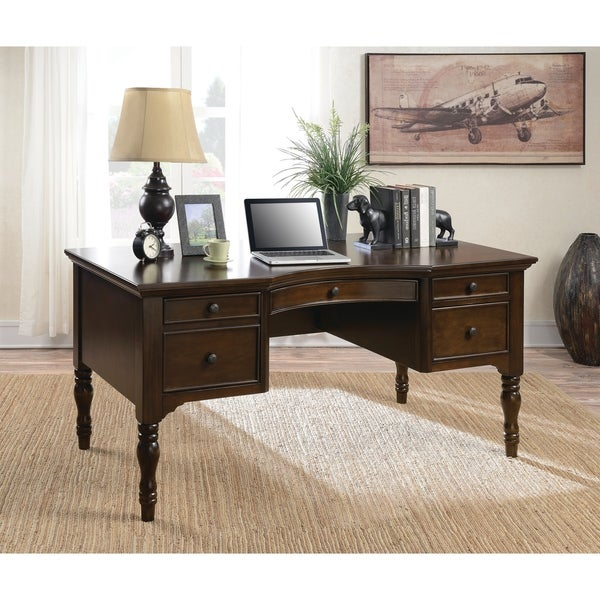Shop Traditional Dark Cherry Desk Free Shipping Today Overstock