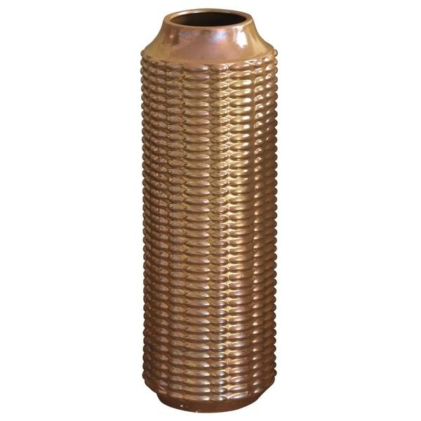 Harp & Finial Lennon Large Copper Ceramic Vase