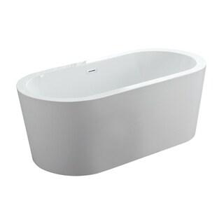 "Dionysus 60"" x 30"" Freestanding Acrylic Bathtub"