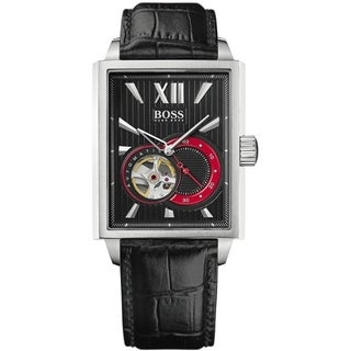 Hugo Boss Men's 1512505 'Black' Automatic Black Leather Watch