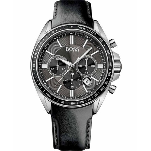 Hugo Boss Men's 'Driver Sport' Chronograph Black Leather Watch
