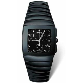 Rado Men's 'Sintra' Chronograph Black Ceramic Watch