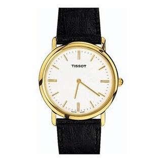 Tissot Men's 'T-Classic' Black Leather Watch