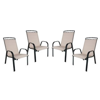 Monticello 4-PC Sling Dining Chairs-Black