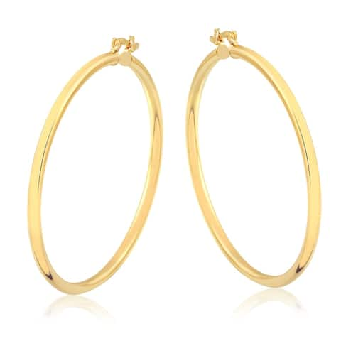 Gold Plated 60mm Gold Hoop Earrings