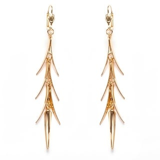 Gold Plated Gold Spike Drop Earrings