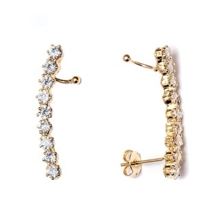 Gold Plated and Swarovski Elements Ear Cuffs