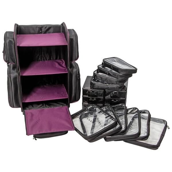 Shany Total Jetsetter Travel Makeup Bag With Multiple