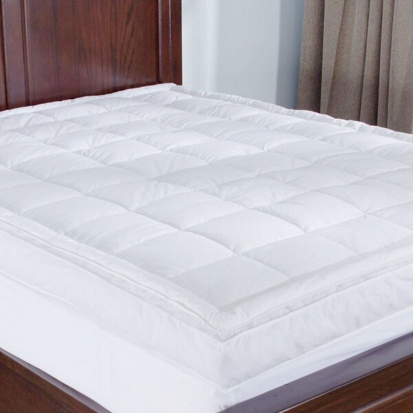 St. James Home Premium Goose Down Top Featherbed - White