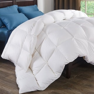 800 Fill Power White Goose Down 700 Thread Count Cotton Comforter (3 options available)