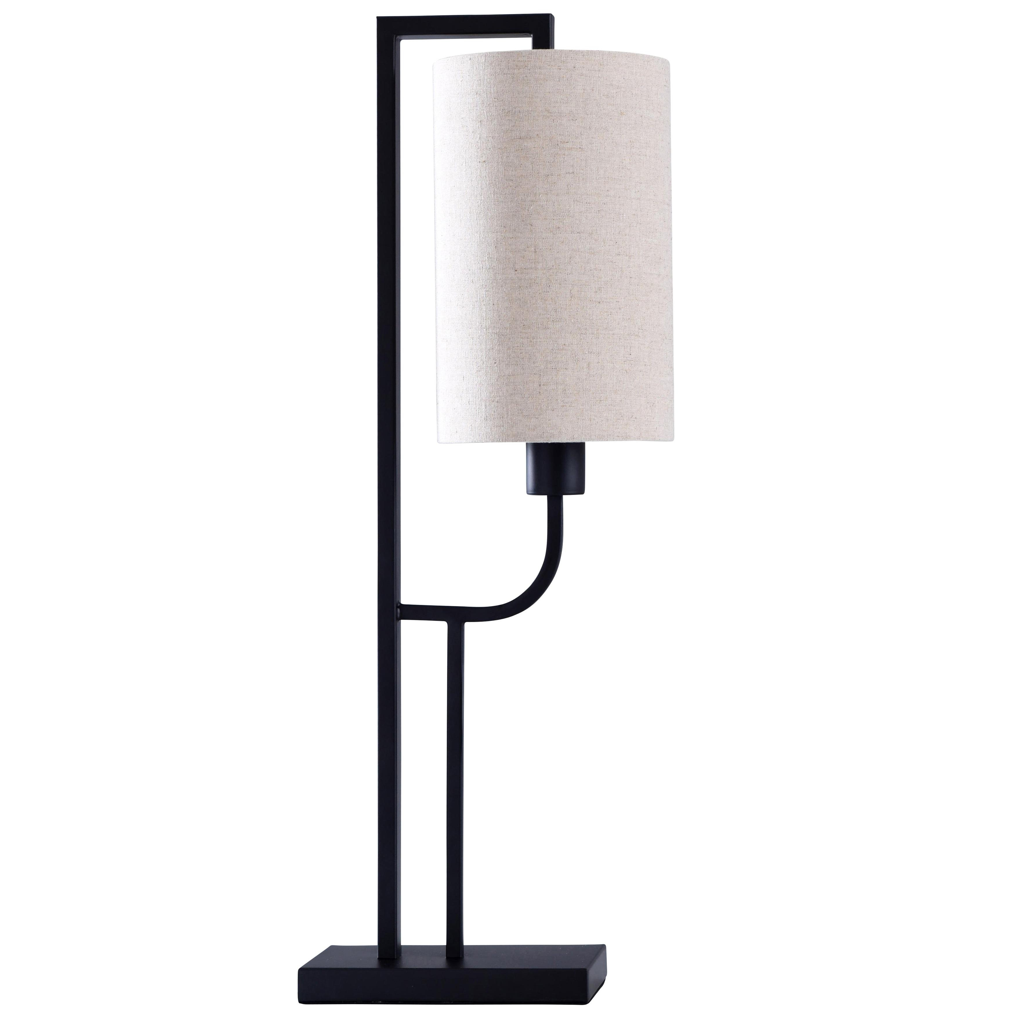 Orb Tall Black Table Lamp Off