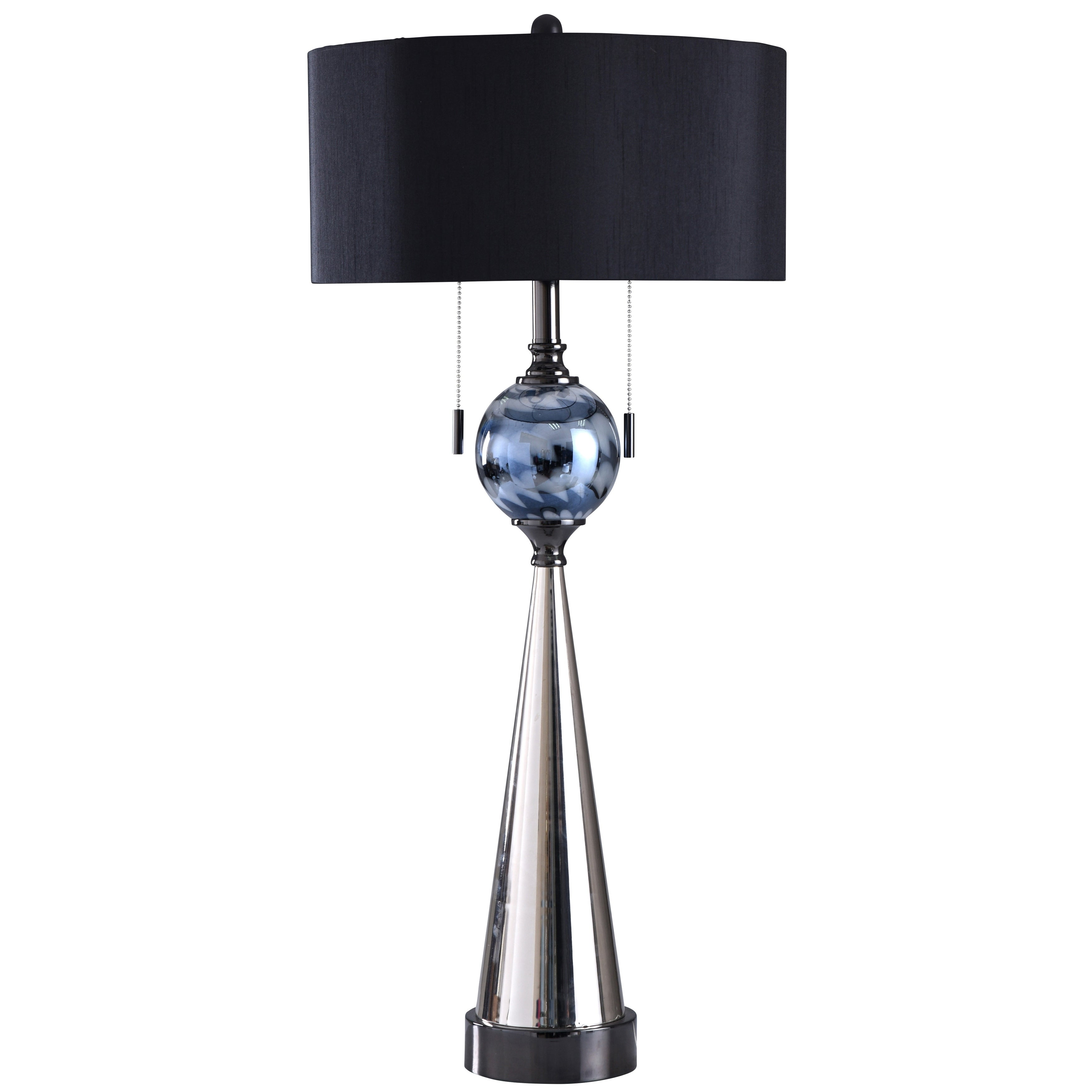 Adira Silver And Black Table Lamp
