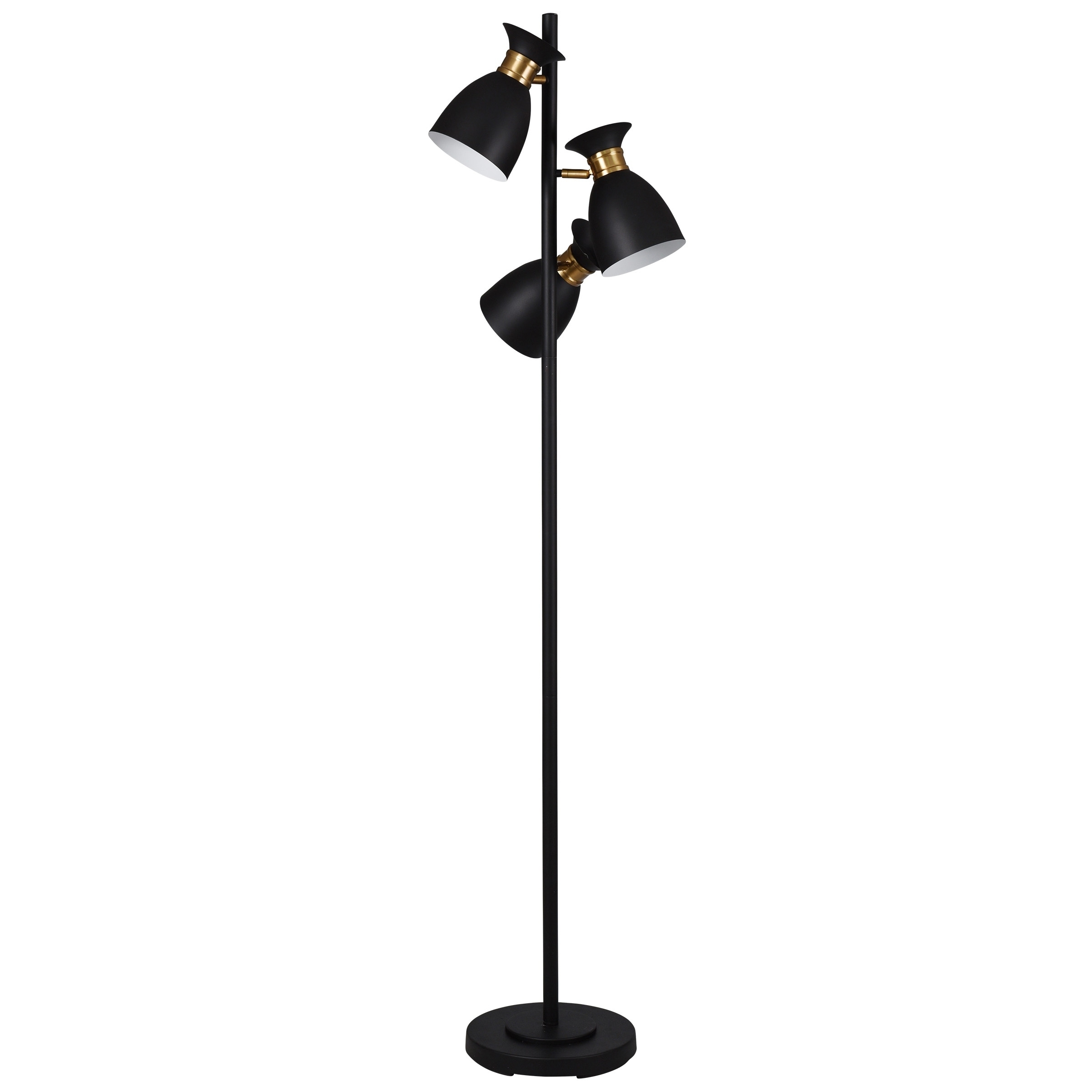 Shop Arvin Black And Gold Floor Lamp Black Shade On Sale Overstock 22303103