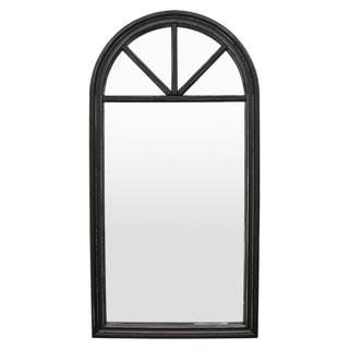 Three Hands Wood Wall Mirror-Black - Gold - 23.75 X 1 X 46