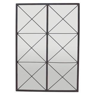 Three Hands Metal Wall Decor Mirror - Rust - Gray - 19.5 X 0.75 X 23.5