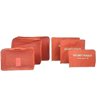 Packing Cubes 6 Piece Set Fits for Luggage Travel Carry On Clothes Storage Bags, Organizer pouch.