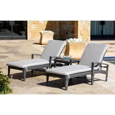 Abbyson Jackson Sunbrella 3-piece Chaise Lounge Set