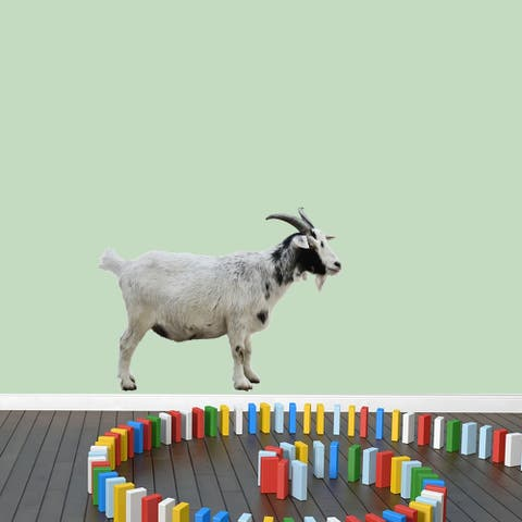 Real Life Goat Printed Wall Decal