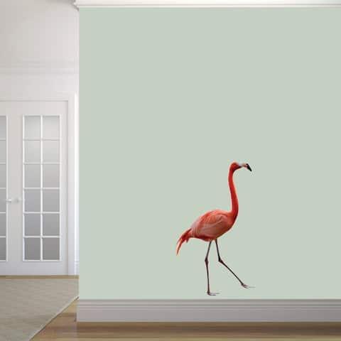 Real Life Flamingo Printed Wall Decal
