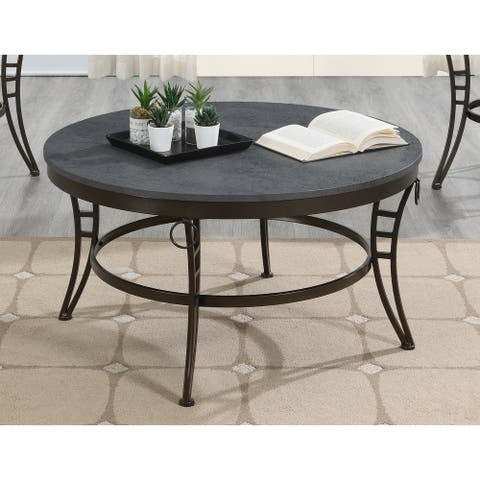 Emerald Home Emmerson Gray Oval Coffee Table