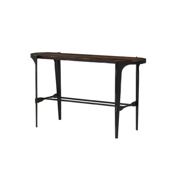 Carbon Loft Stephan Honeyed Amber and Antique Black Sofa Table