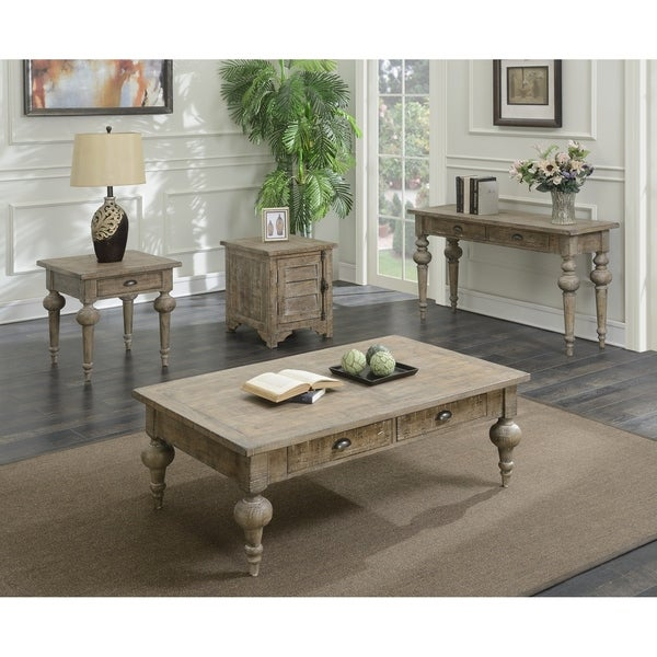 The Gray Barn Willow Way Sandstone Grey Accent Table Set