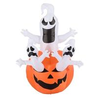 6' Outdoor Airblown Inflatable Halloween Decoration - Jack-O-Lantern Pumpkin with Ghosts