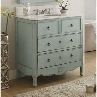 """34"""" Benton Collection Light Blue Daleville Bathroom Sink Vanity (2 options available)"""