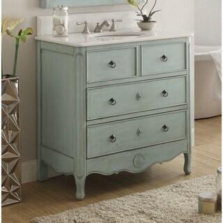 """34"""" Benton Collection Light Blue Daleville Bathroom Sink Vanity"""