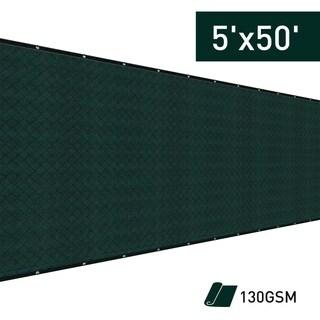 Outsunny 5' x 50 Sun Shade Backyard Privacy Fence Kit