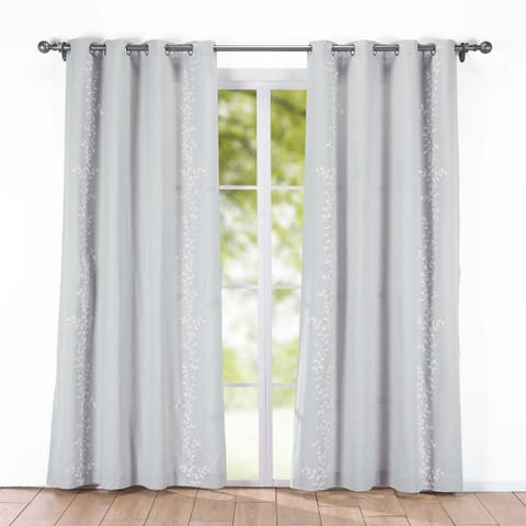 St. James Home Embroidered Canvas Window Panels