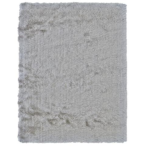 "Grand Bazaar Handmade Freya Platinum Shag Area Rug - 4'9"" x 7'6"""