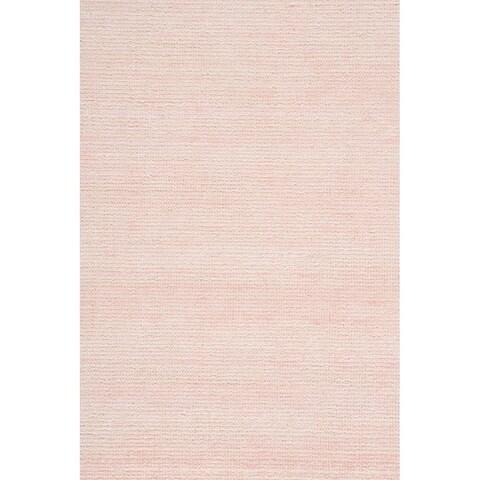 "Grand Bazaar Mazen Blush Cotton, Wool, and Viscose Handmade Area Rug - 5'6"" x 8'6"""