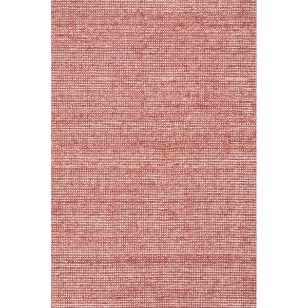 "Grand Bazaar Mazen Deep Red Cotton, Viscose, and Wool Handmade Area Rug - 5'6"" x 8'6"""