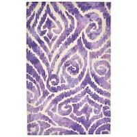 Grand Bazaar Pearline Violet Handmade Area Rug - 5' x 8'