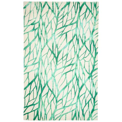 Grand Bazaar Handmade Pearline Green Area Rug - 5' x 8'