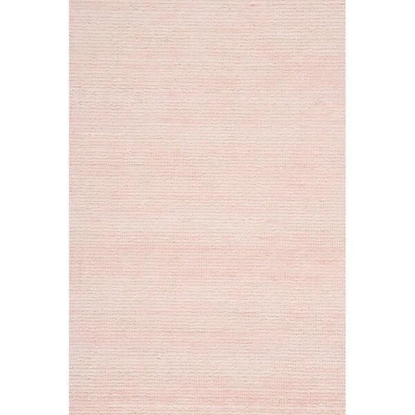 "Grand Bazaar Mazen Blush Pink Wool/Viscose Handmade Area Rug - 8'6"" x 11'6"""