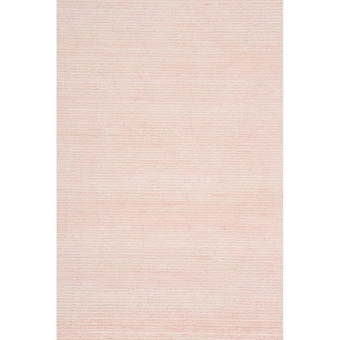 "Grand Bazaar Mazen Blush Pink Wool/Viscose Handmade Area Rug - 8'6"" x 11'6"""