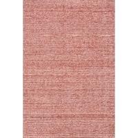 Grand Bazaar Mazen Red Wool/Viscose Handmade Area Rug - 8'6 x 11'6