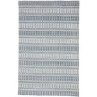Grand Bazaar Odami Blue/Silver Viscose/Wool Handmade Modern Geometric Area Rug - 9' x 12'6