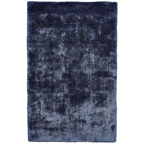 Grand Bazaar Uzuri Dark Blue Cotton Handmade Area Rug - 8' x 11'