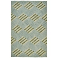 Grand Bazaar Bromham Light Turquoise Flatweave Area Rug - 9' x 12'