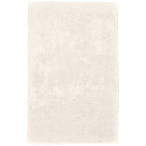 "Grand Bazaar Uzuri White Shag Area Rug - 9'6"" x 13'6"""