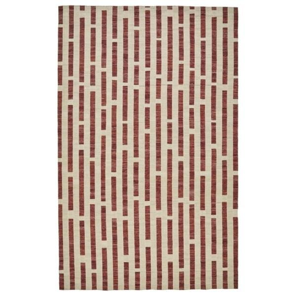 Grand Bazaar Bromham Collection Merlot Beige/Rust Modern Geometric Area Rug - 8' x 10'